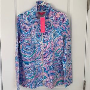 Lily Pulitzer pop over full zip happy as a clam M